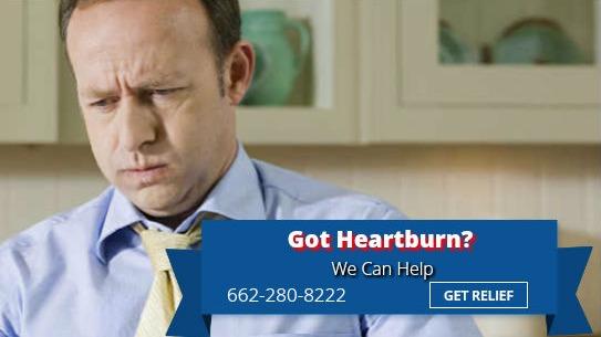 Man suffering from heartburn in Southaven MS
