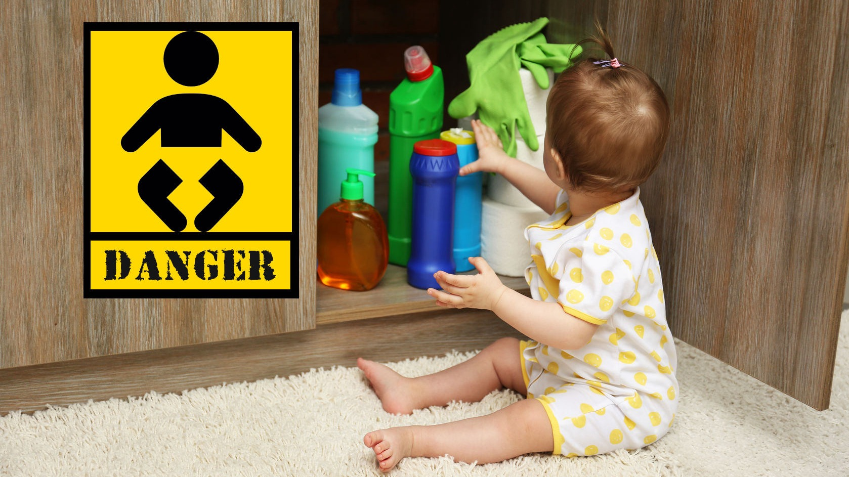 toxic household chemicals, dangerous cleaning products, child safety