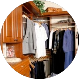 custom closet organizers in cherry