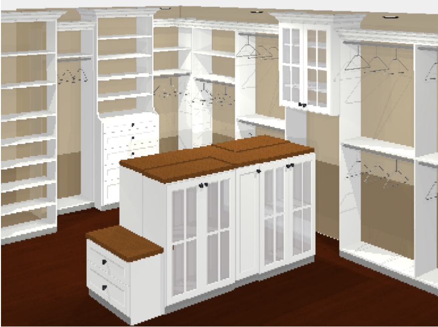 custom closet designs - Walkin Closet Drawing