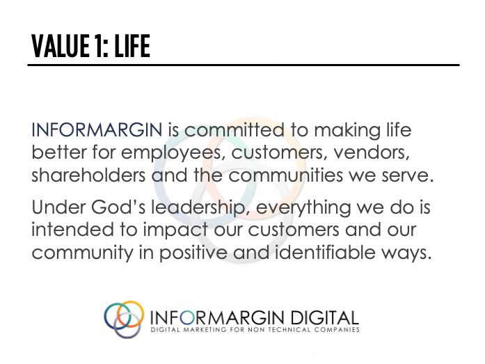Informargin Value #1 Life