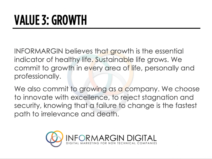 Informargin Value # 3 Growth