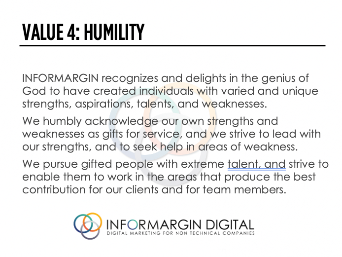Informargin Value # 4 Humility