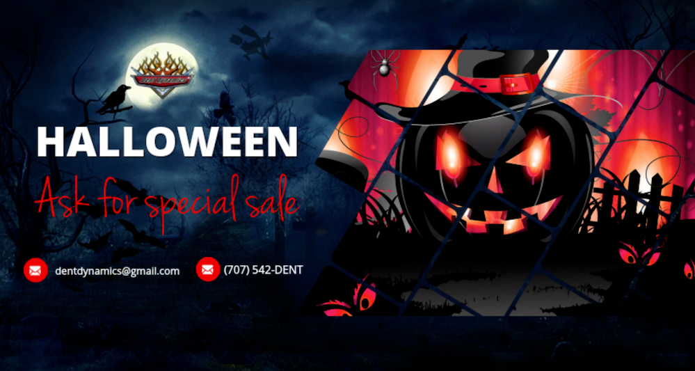 Happy Halloween Sale from Dent Dynamics