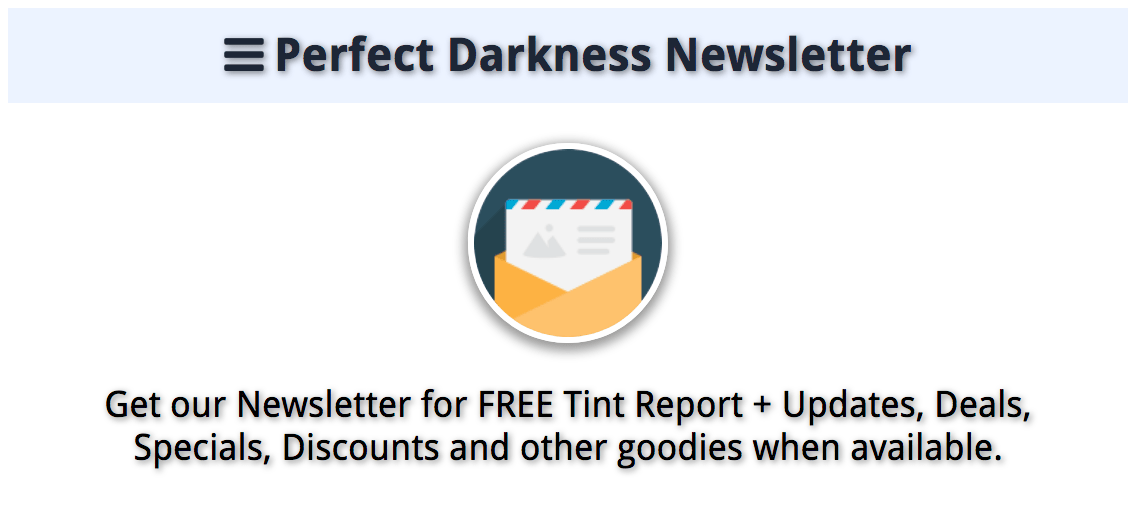 About Perfect Darkness Newsletter
