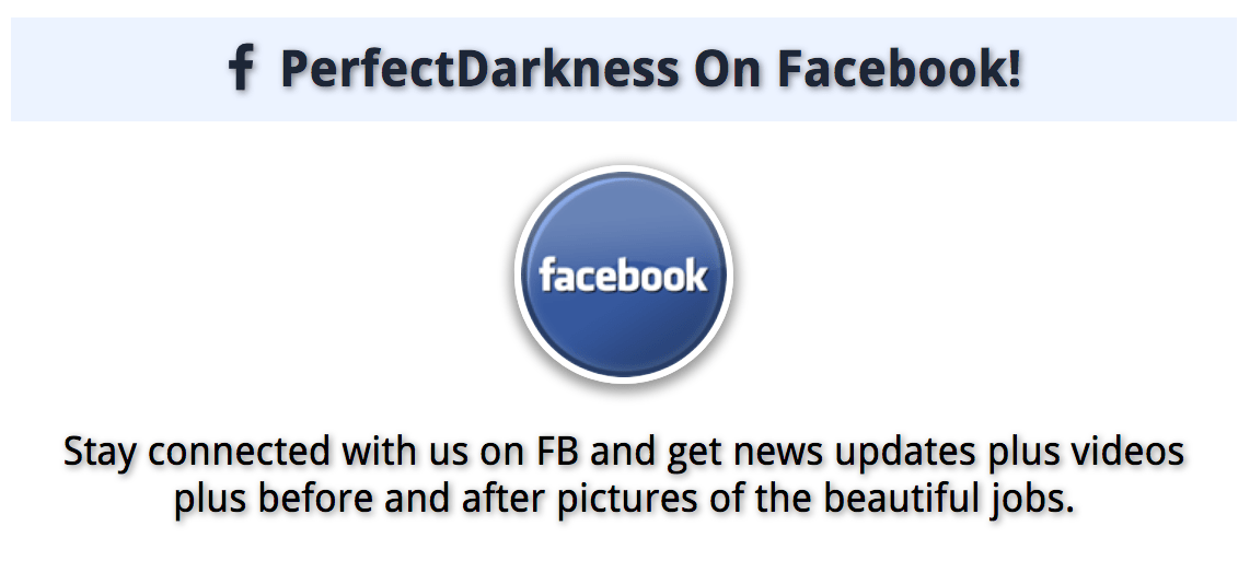 Perfect Darkness Tint on Facebook