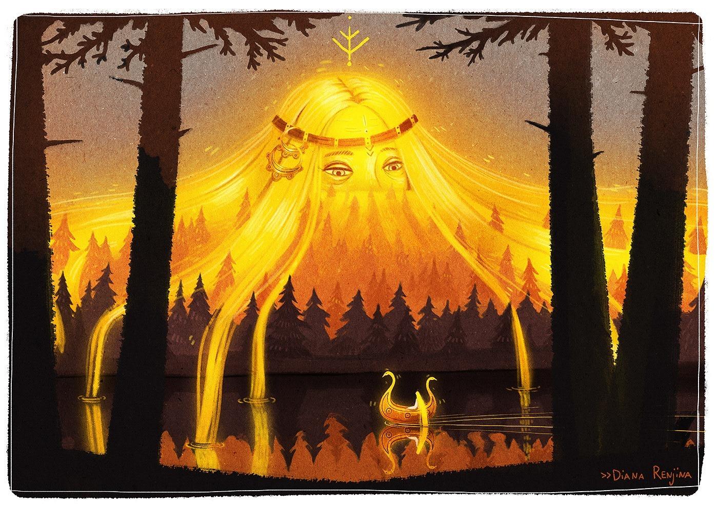 Solstice Art by Diana Renjina