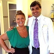 Abby with Dr. Keith