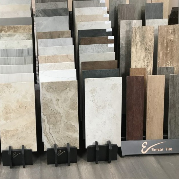 Samples of tile flooring