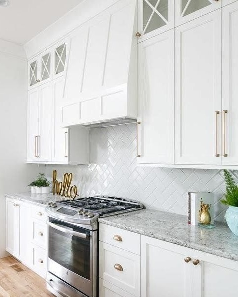 white kitchen cabinets and cupboards