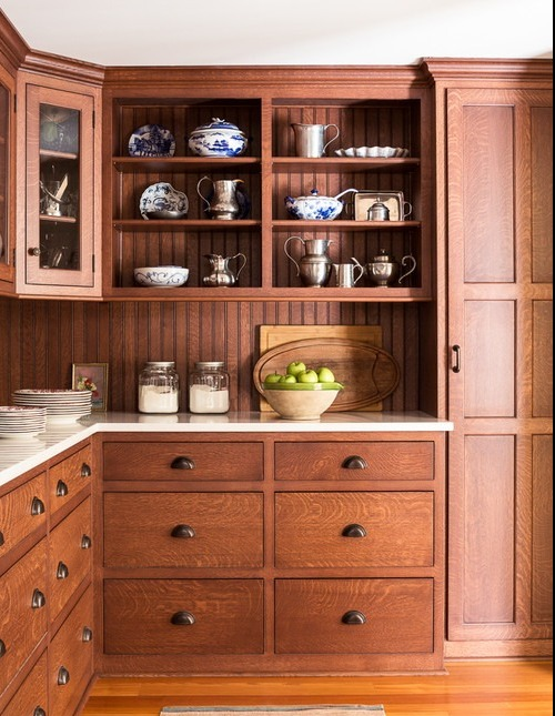 brown kitchen cabinets and cupboards
