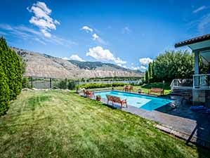 Kamloops riverfront home backyard