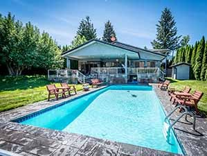 Kamloops luxury waterfront for sale swimming pool & house