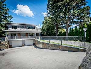 another view of underground driveway Kamloops riverfront for sale