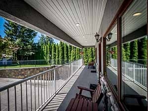 Rear deck on Kamloops waterfront home
