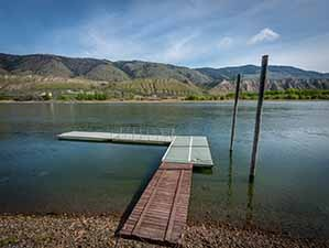 Kamloops riverfront dock north view