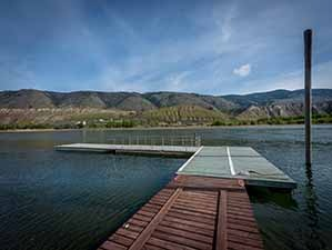 Kamloops riverfront dock north view 2
