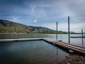 Kamloops riverfront dock east view