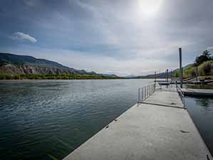 Kamloops waterfront dock looking east from dock again