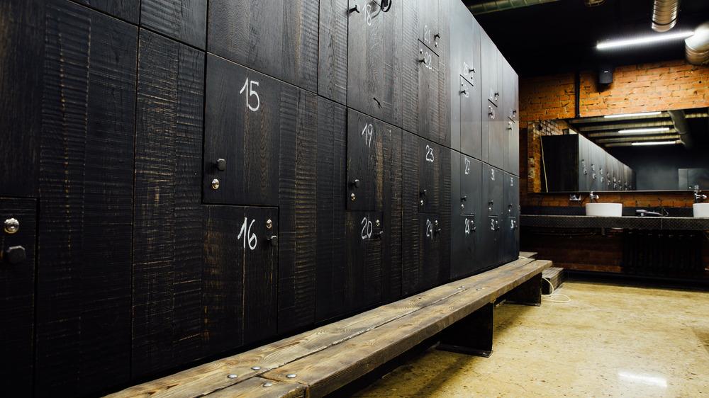 Locker Room with Social Distancing