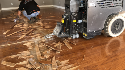 wood floor removal