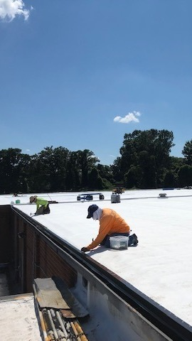 Commercial Flat Roof Re-roofing Winston Salem NC