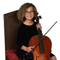 Young girl with string instrument