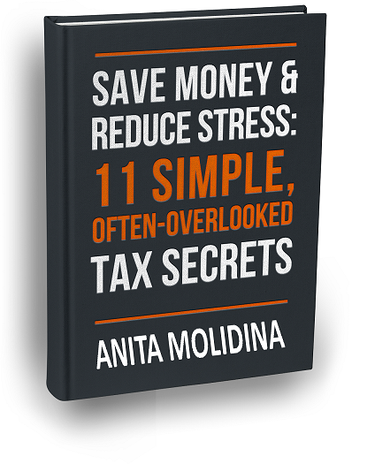 Picture of Anita's tax secrets book