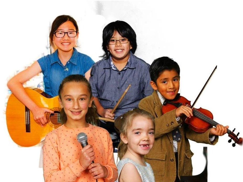 Children with various instruments
