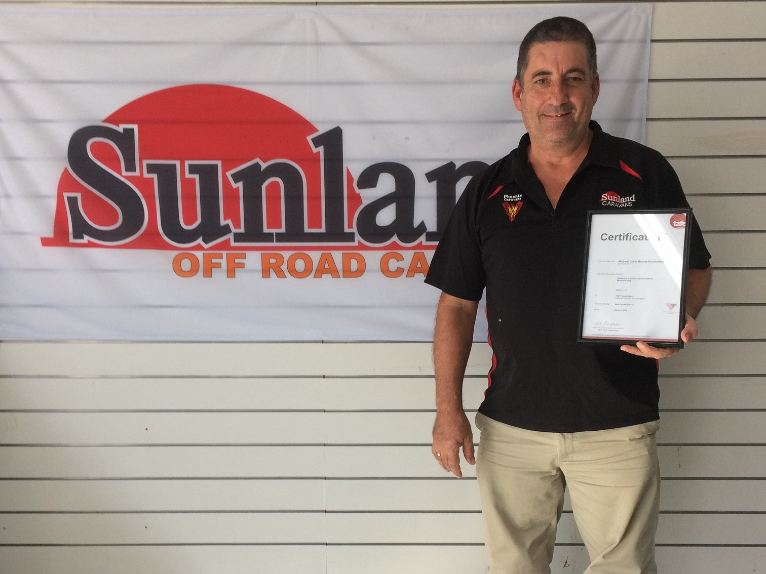 Michael R Sunland Caravans Qualified Staff