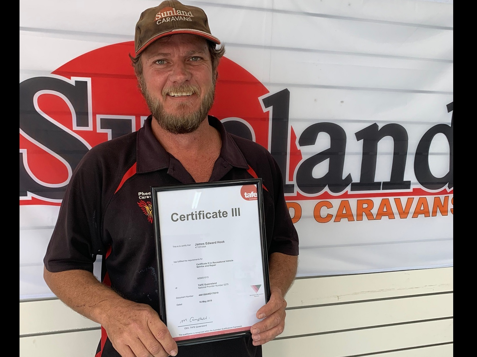 Sunland Caravans Service Manager James Hook