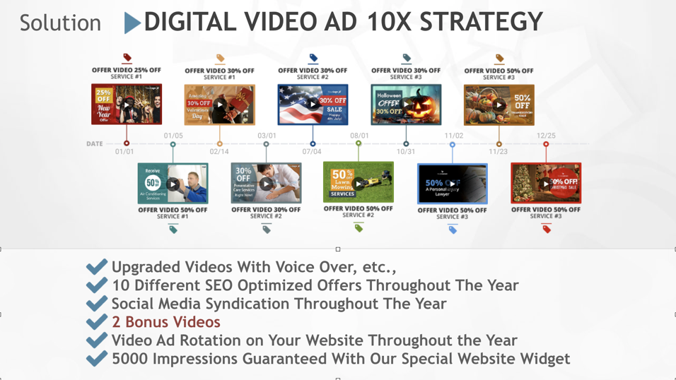 Ask About Our 10X Video Marketing Strategy