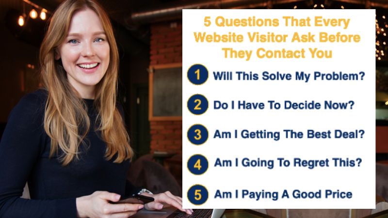 5Qs website visitors want to know