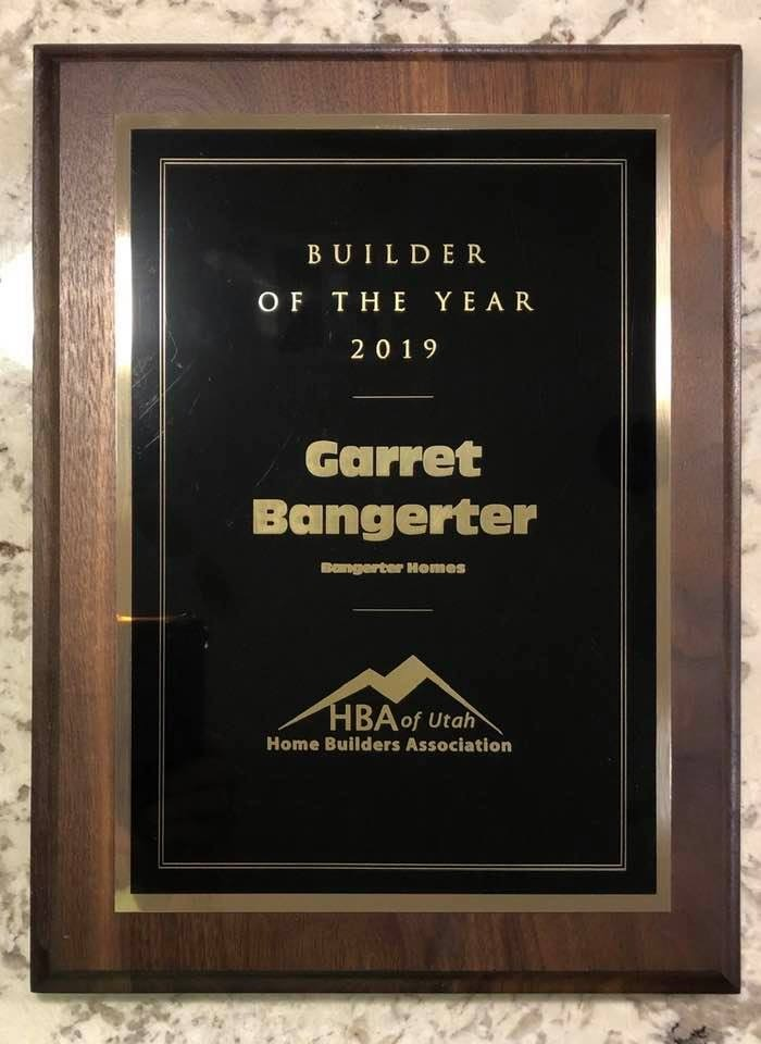 2019 Home Builder Of the Year!